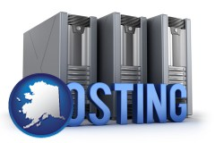 alaska web site hosting servers and a caption