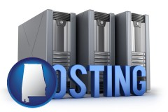 alabama web site hosting servers and a caption