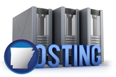 arkansas web site hosting servers and a caption