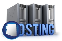 arizona web site hosting servers and a caption
