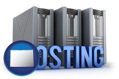 colorado web site hosting servers and a caption