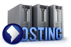 washington-dc web site hosting servers and a caption