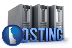 de web site hosting servers and a caption