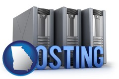 ga web site hosting servers and a caption