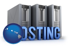 hawaii web site hosting servers and a caption