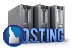 id map icon and web site hosting servers and a caption