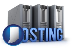 indiana web site hosting servers and a caption
