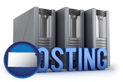 ks web site hosting servers and a caption