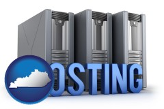 kentucky web site hosting servers and a caption