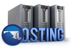 maryland web site hosting servers and a caption
