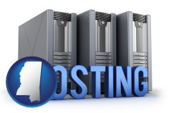 mississippi web site hosting servers and a caption