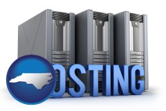 north-carolina web site hosting servers and a caption