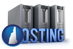 new-hampshire web site hosting servers and a caption