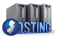 new-jersey web site hosting servers and a caption