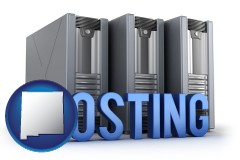 nm map icon and web site hosting servers and a caption