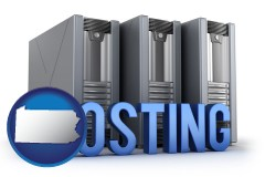 pennsylvania web site hosting servers and a caption