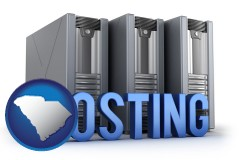 south-carolina web site hosting servers and a caption
