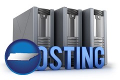 tennessee web site hosting servers and a caption