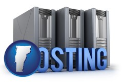 vermont web site hosting servers and a caption