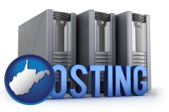 west-virginia web site hosting servers and a caption