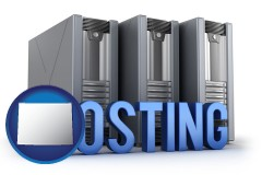 wyoming web site hosting servers and a caption