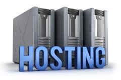 web site hosting servers and a caption