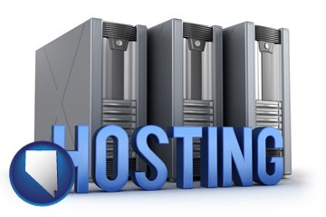 web site hosting servers and a caption - with Nevada icon
